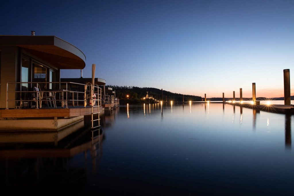 Floating Village Brombachsee, Sonnenuntergang