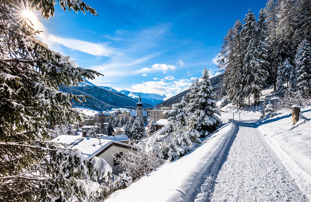 Langlauf über Davos - Loipen in der Schweiz