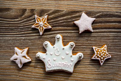 Weihnachtsgebäck Krone