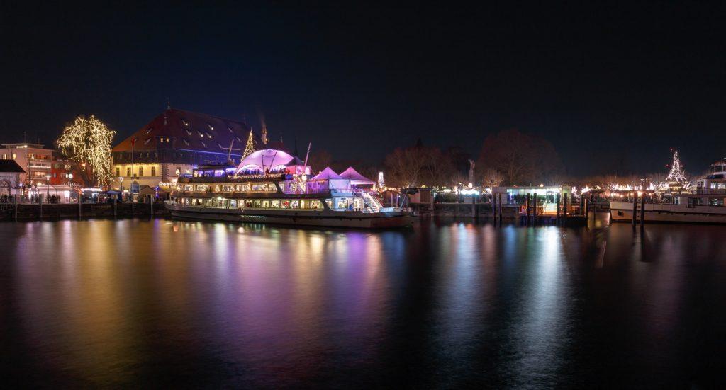 Weihnachtsmarkt Konstanz bei Nacht