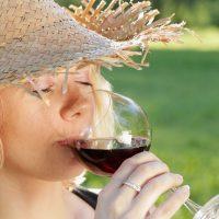 Weinprobe Frau