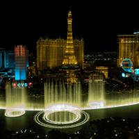 Luftbild Las Vegas bei Nacht