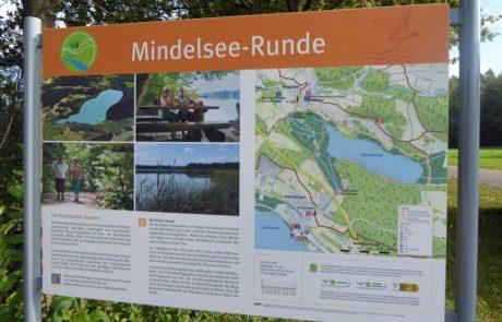 Wanderschild Mindelsee-Runde