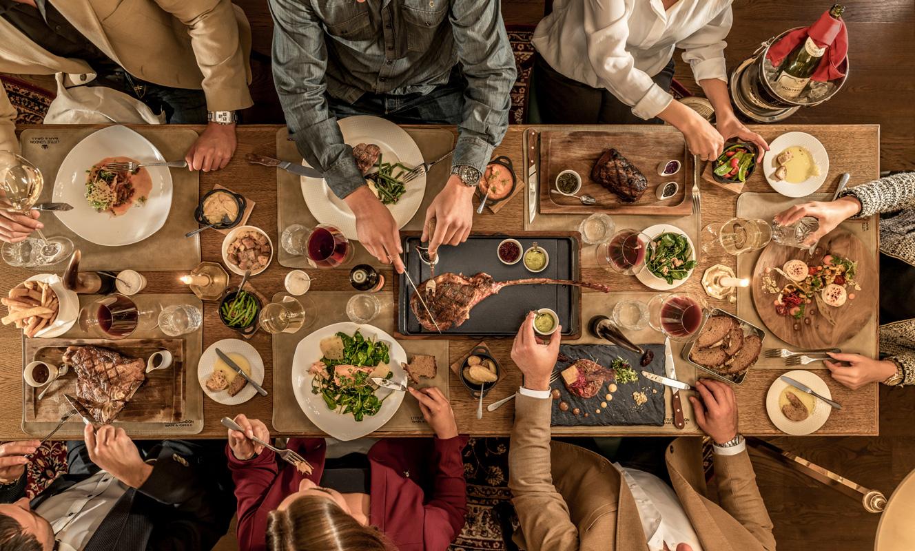 Gedeckte Tafel im Little London - Steak-Liebhaber
