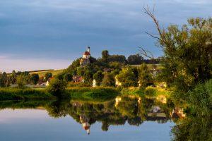Wörnitz, Blick auf Wörnitzstein - Geopark Ries