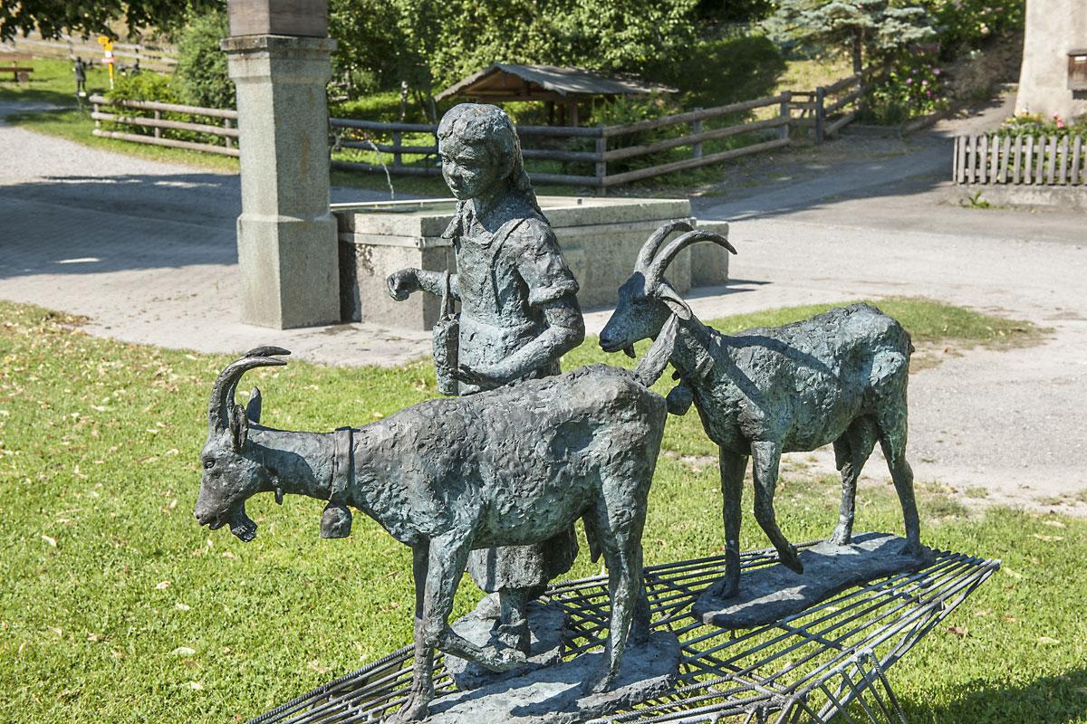 Heidi, Ziegenskulptur
