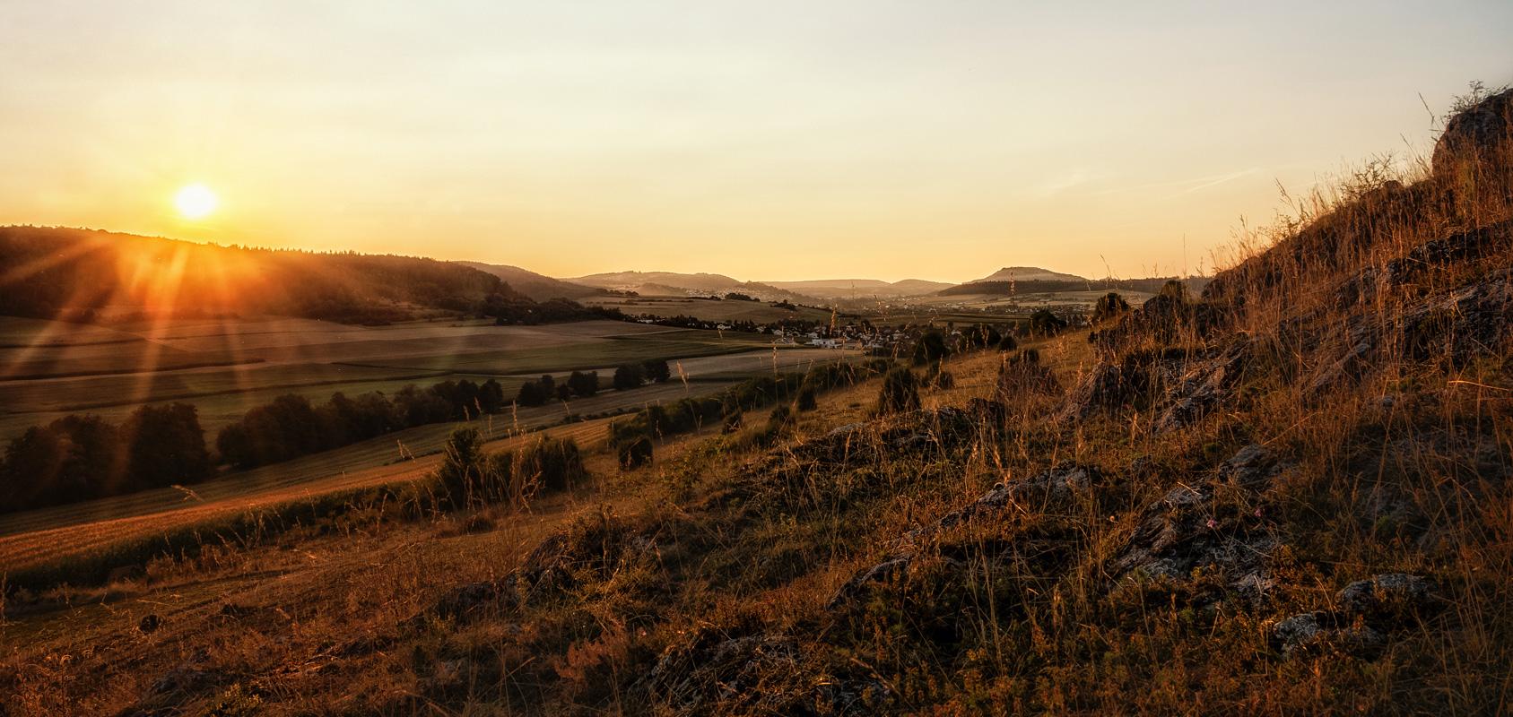 Blick auf den Ipf - Geopark Ries