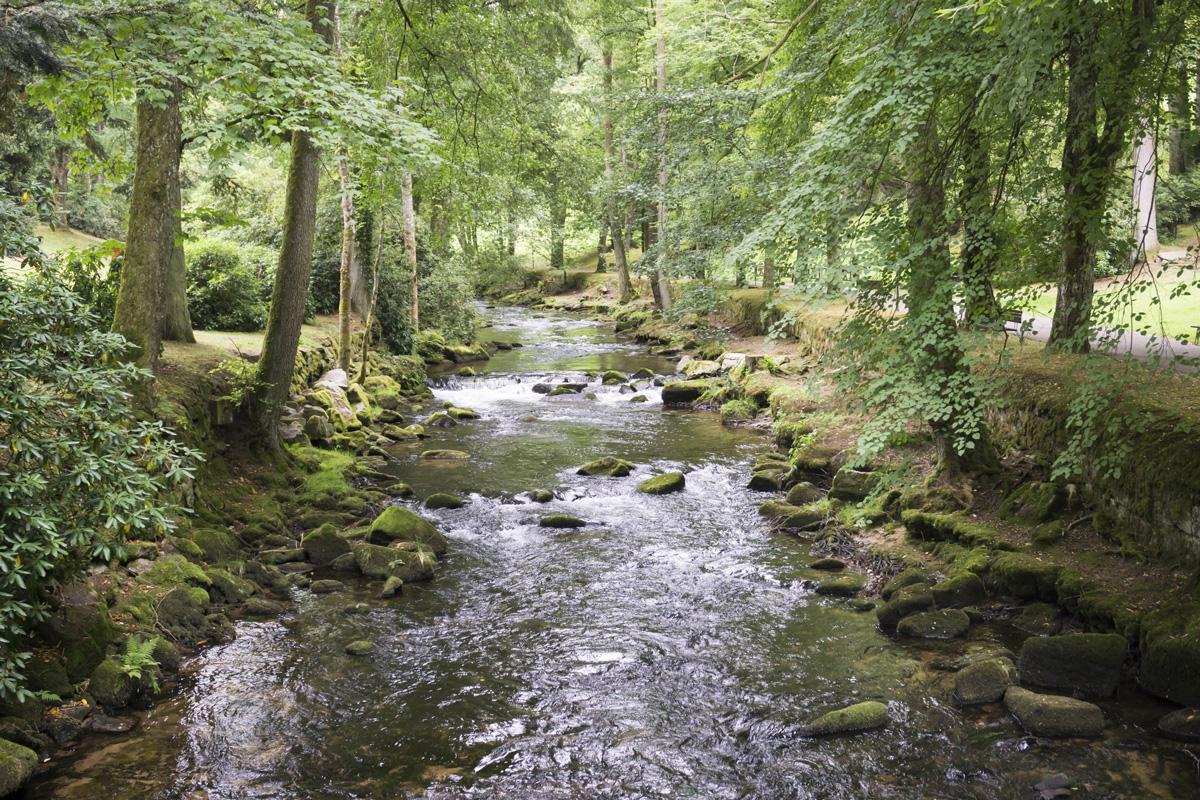 Die Enz im Kurpark Bad Wildbad - Enztal-Radweg