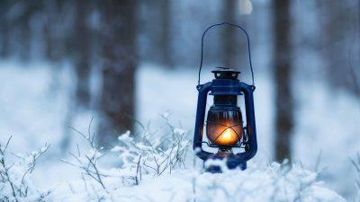 Laterne Winterlandschaft