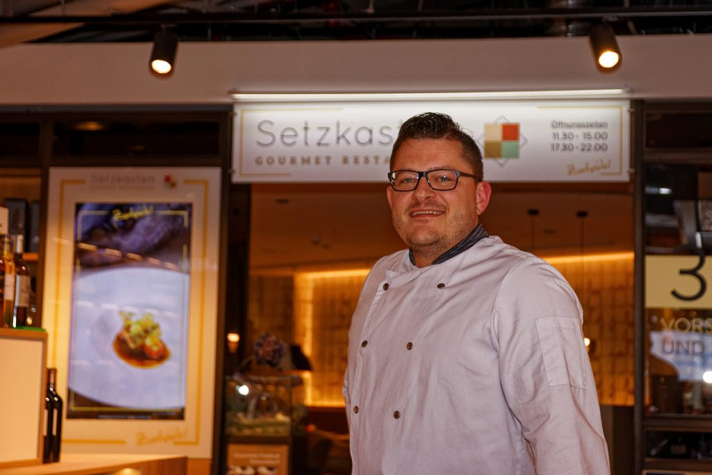 Der Setzkasten in Düsseldorf: Gourmetrestaurant im Supermarkt
