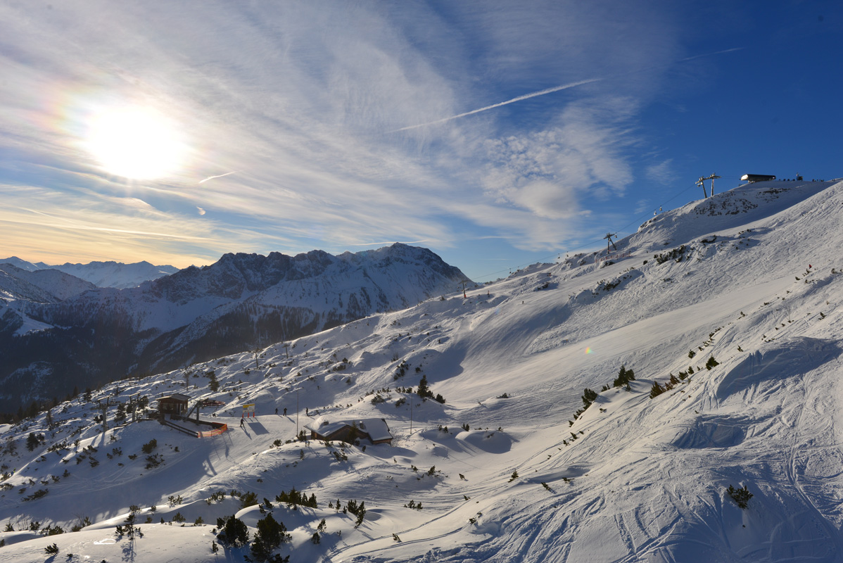 Skigebiet Grubigstein Lermoos/Tirol