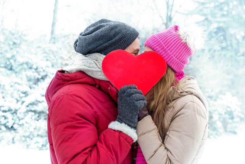 Verliebte Schneelandschaft