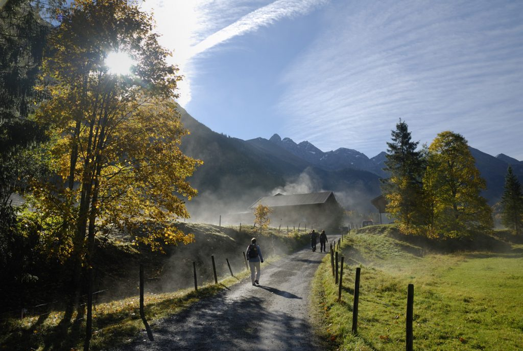 Wandern bei Oberstdorf im Allgäu