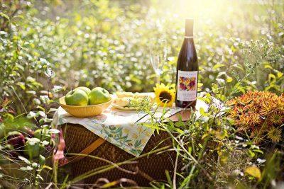 Wein lokale Produkte