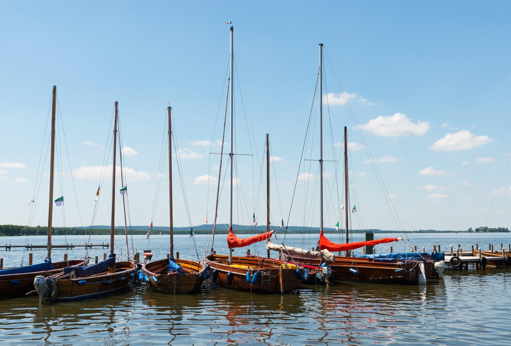 Segelboote am Steinhuder Meer