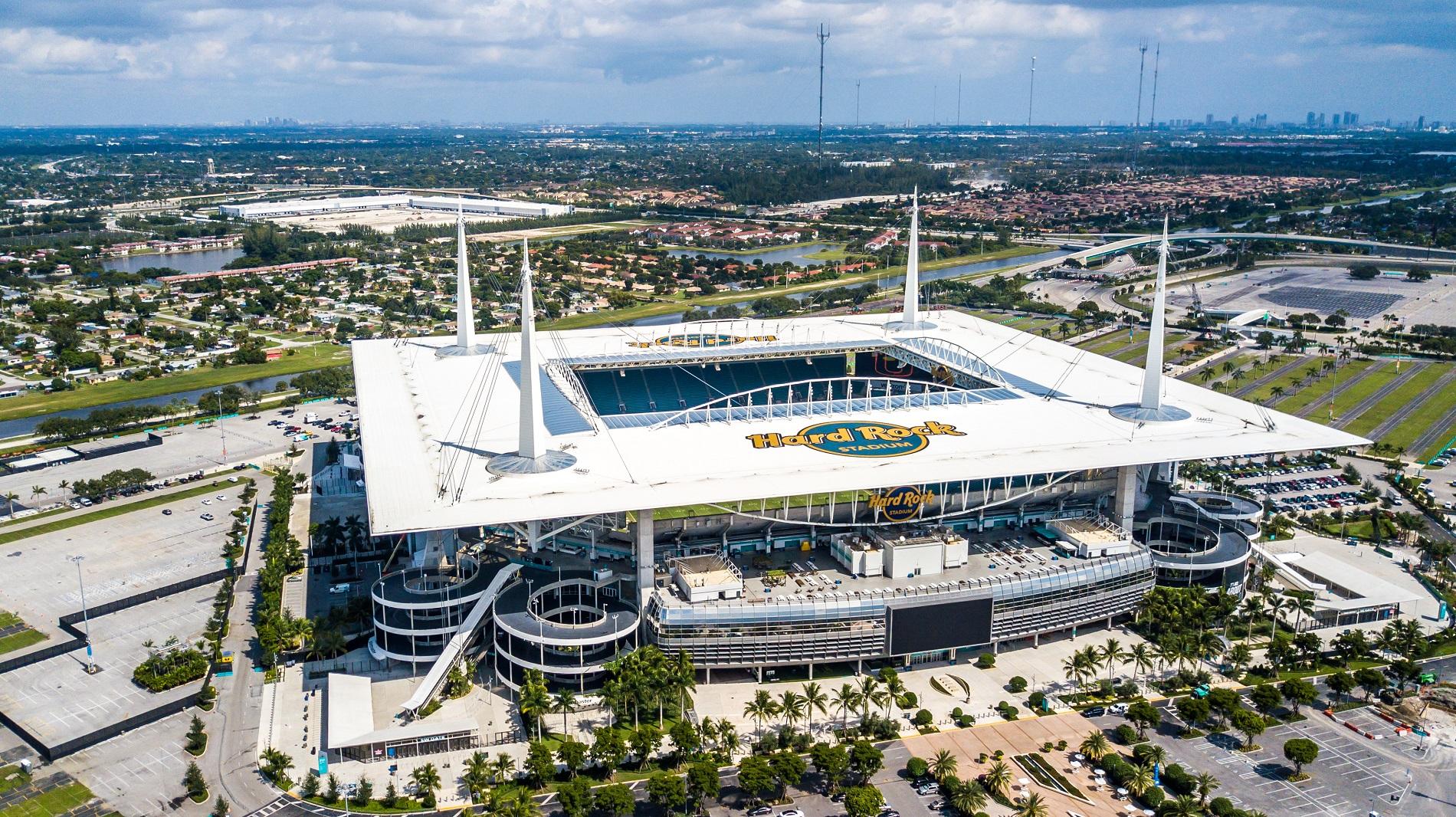 Luftaufnahme Hard Rock Stadion in Miami - Sport-Event