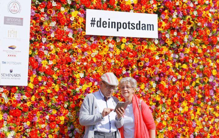 Blumenwand Potsdam - Selfie-Hotspots