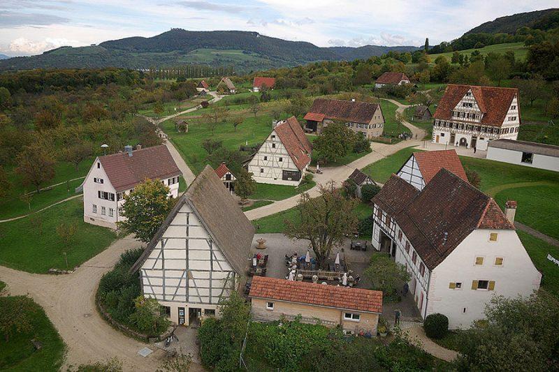 Freilichtmuseum Beuren, Luftbild