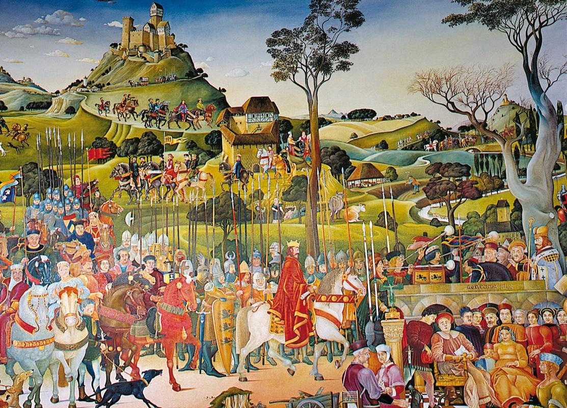 Stauferrundbild im Kloster Lorch
