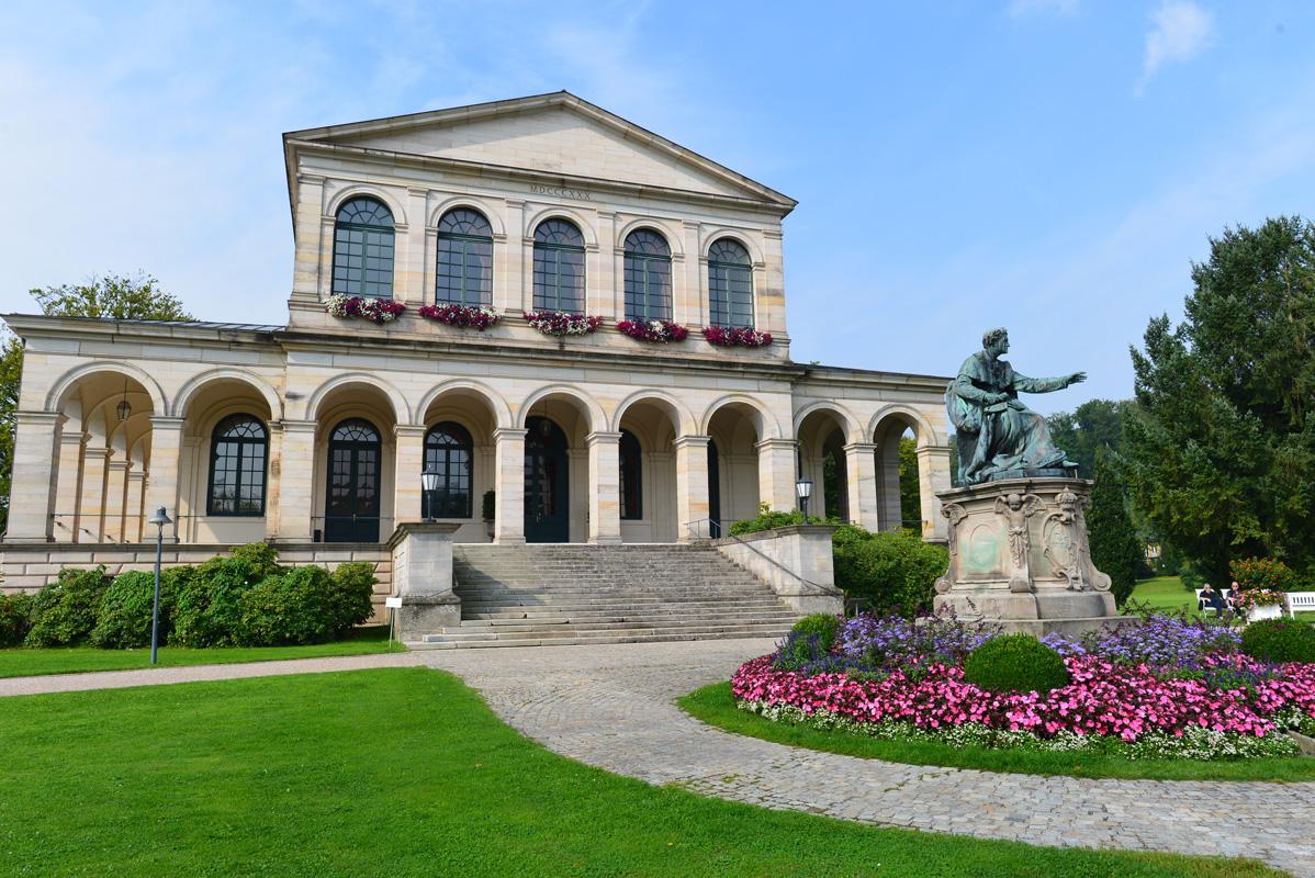 Kursaal im Staatsbad Brückenau Bayern - Rhön-Sinntal-Radweg