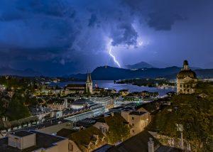 Gewitter über Luzern