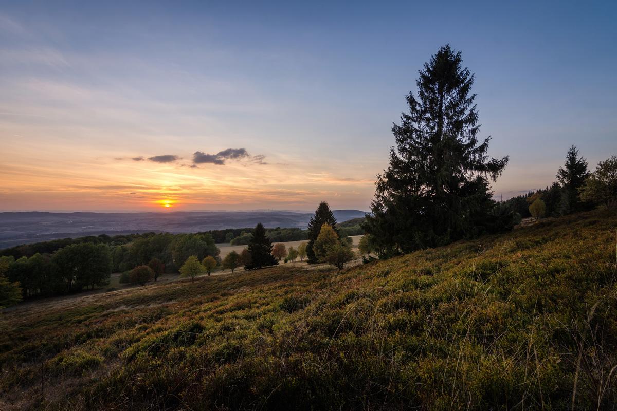 Sonnenuntergang auf dem Meißner