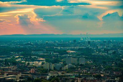 Wolken über Karlsruhe