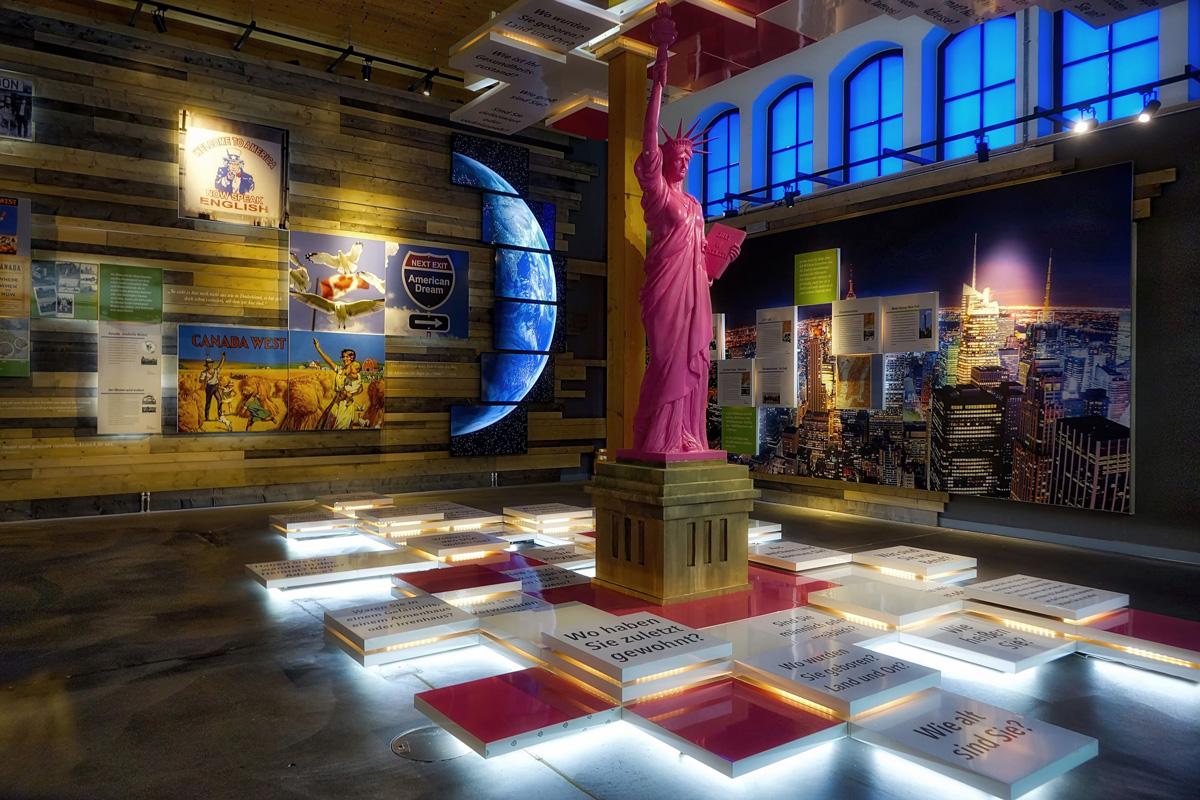 Raum der Ankunft, Auswanderermuseum BallinStadt Hamburg