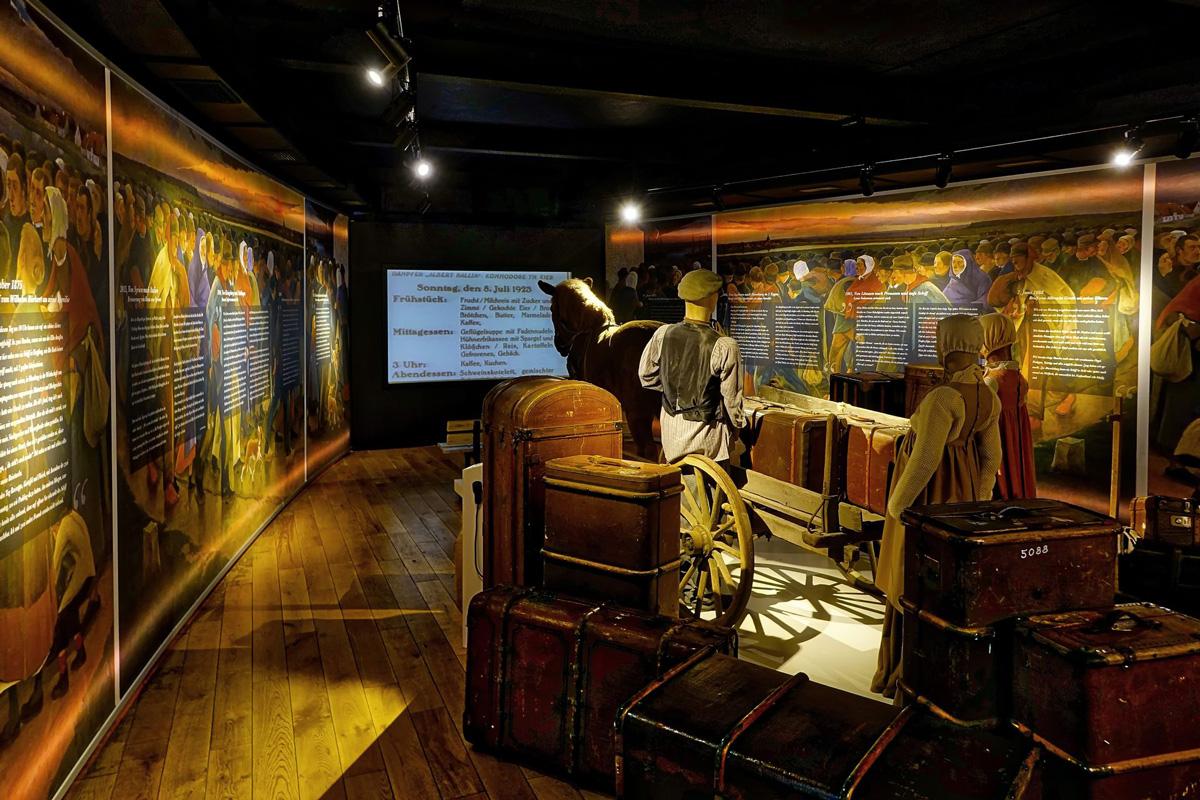 Raum der Reise, Auswanderermuseum BallinStadt Hamburg