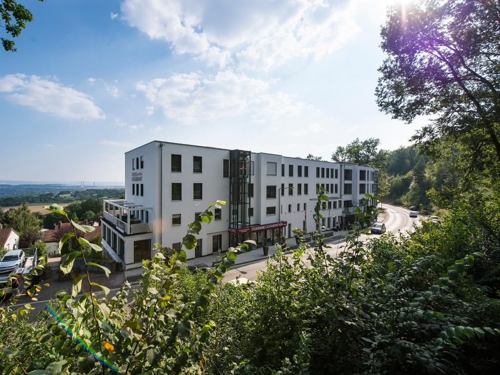 Außenansicht Hotel Steinernes Schweinchen in Kassel