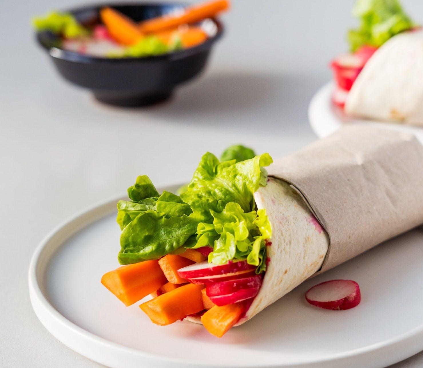 Wrap mit frischem Gemüse