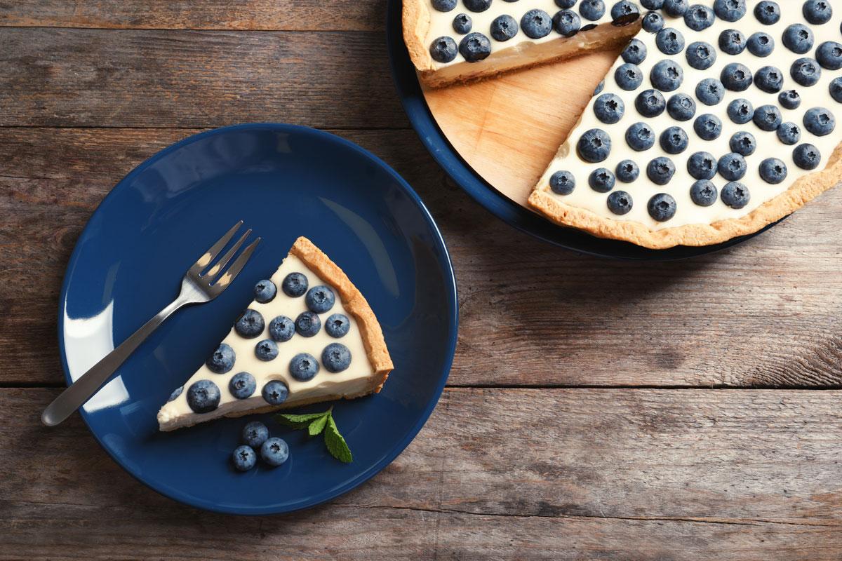 Blaubeerkaesekuchen