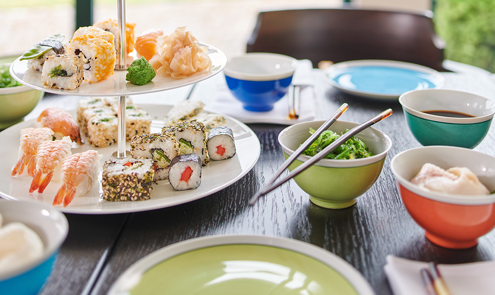 Sushi im Hohenhaus Café © Hotel Hohenhaus