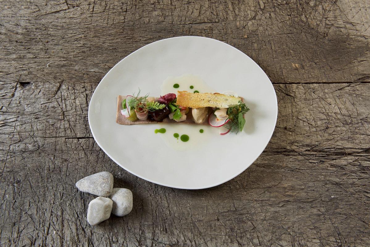 Andreas Hillejan, Foodbild: Backe, Zunge, Bries, Schwarzbiereis