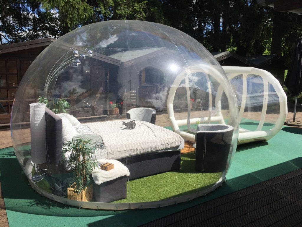 Das Bubble-Hotel: Schlafen unterm Sternenhimmel