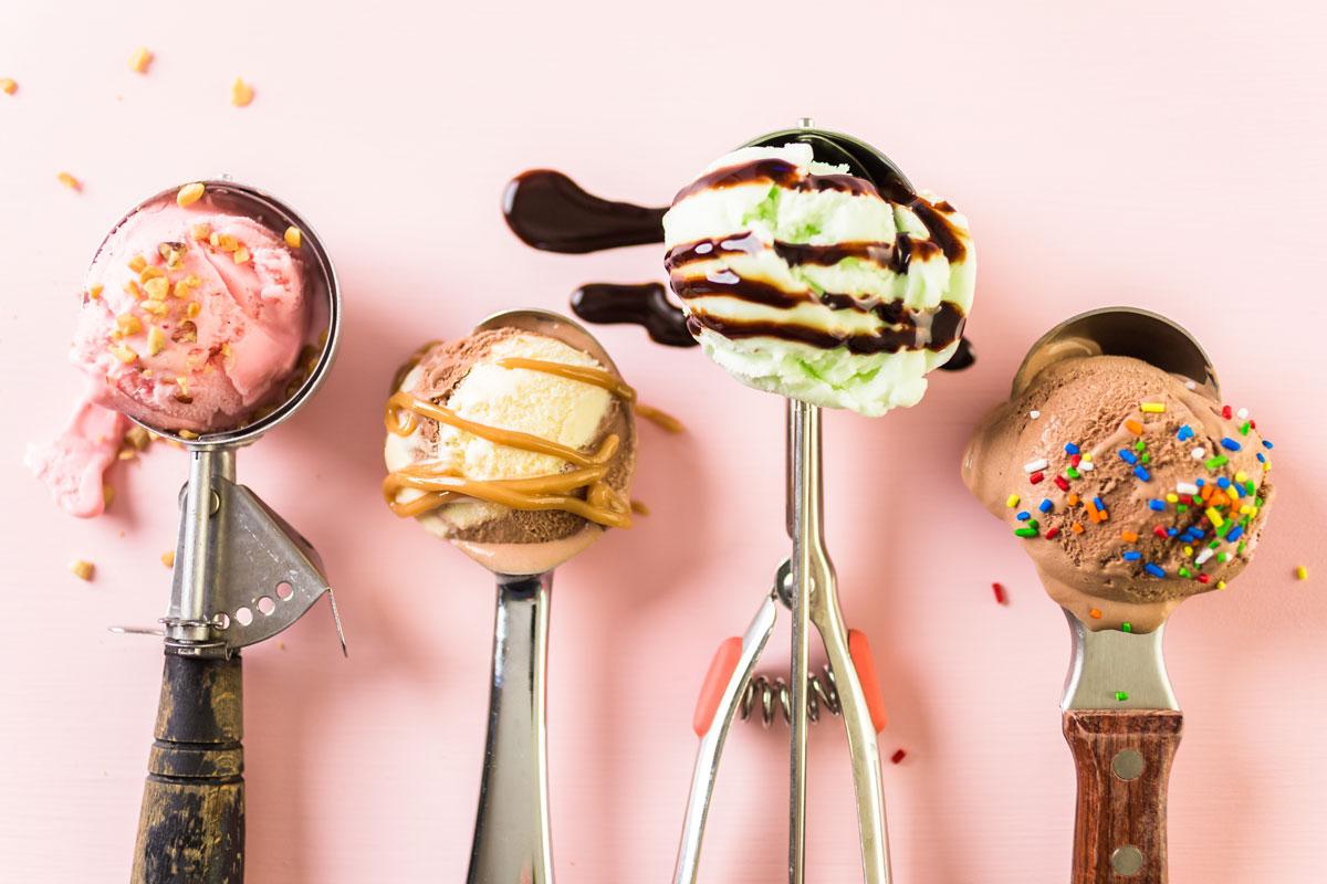 Eissorten im Portionierer - Eis