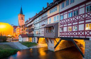 Kraemerbruecke Erfurt Seitenansicht