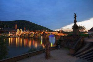 Alte Brücke Heidelberg, Abenddämmerung
