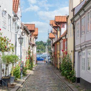 Der Oluf-Samson-Gang, die bekannteste und schönste Gasse in Flensburgs Altstadt