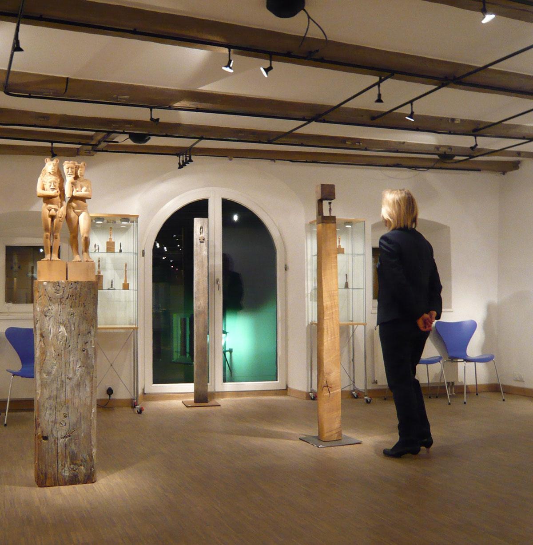 Während einer Ausstellung