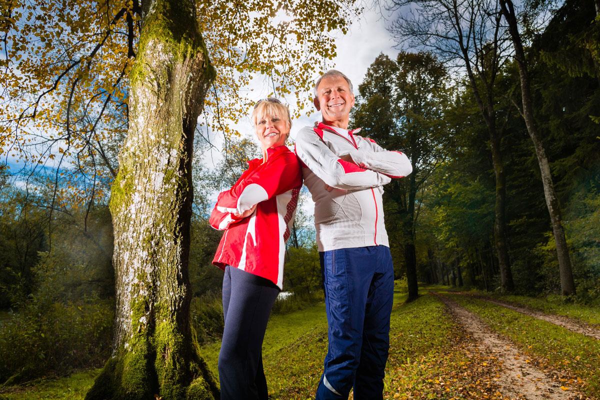 Fitness Wald Paar
