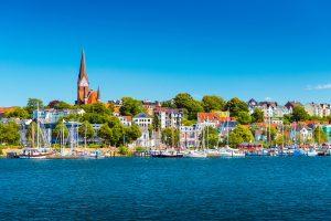 Blick auf Flensburg