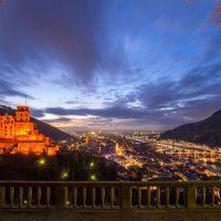 Heidelberg: Blick von Schloss und Altstadt