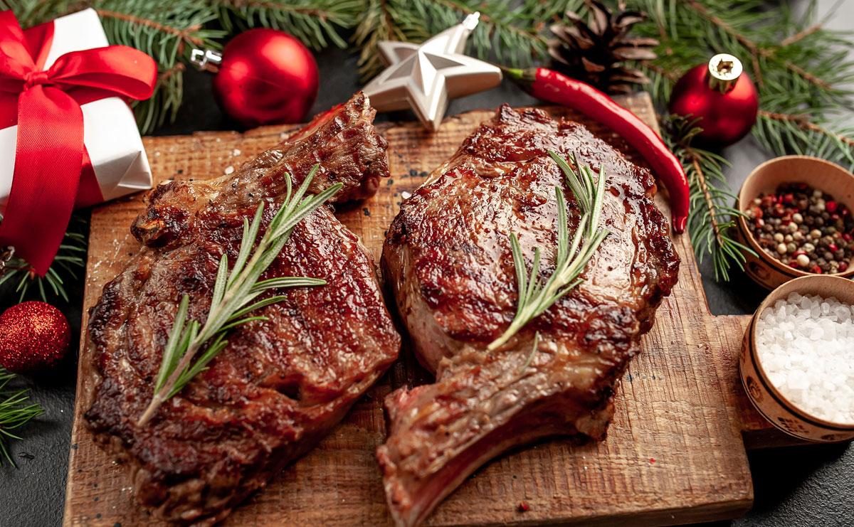 Wintergrillen Steaks