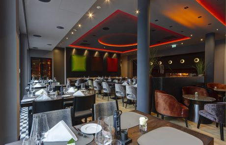 Restaurant im Hotel Qube Bahnstadt