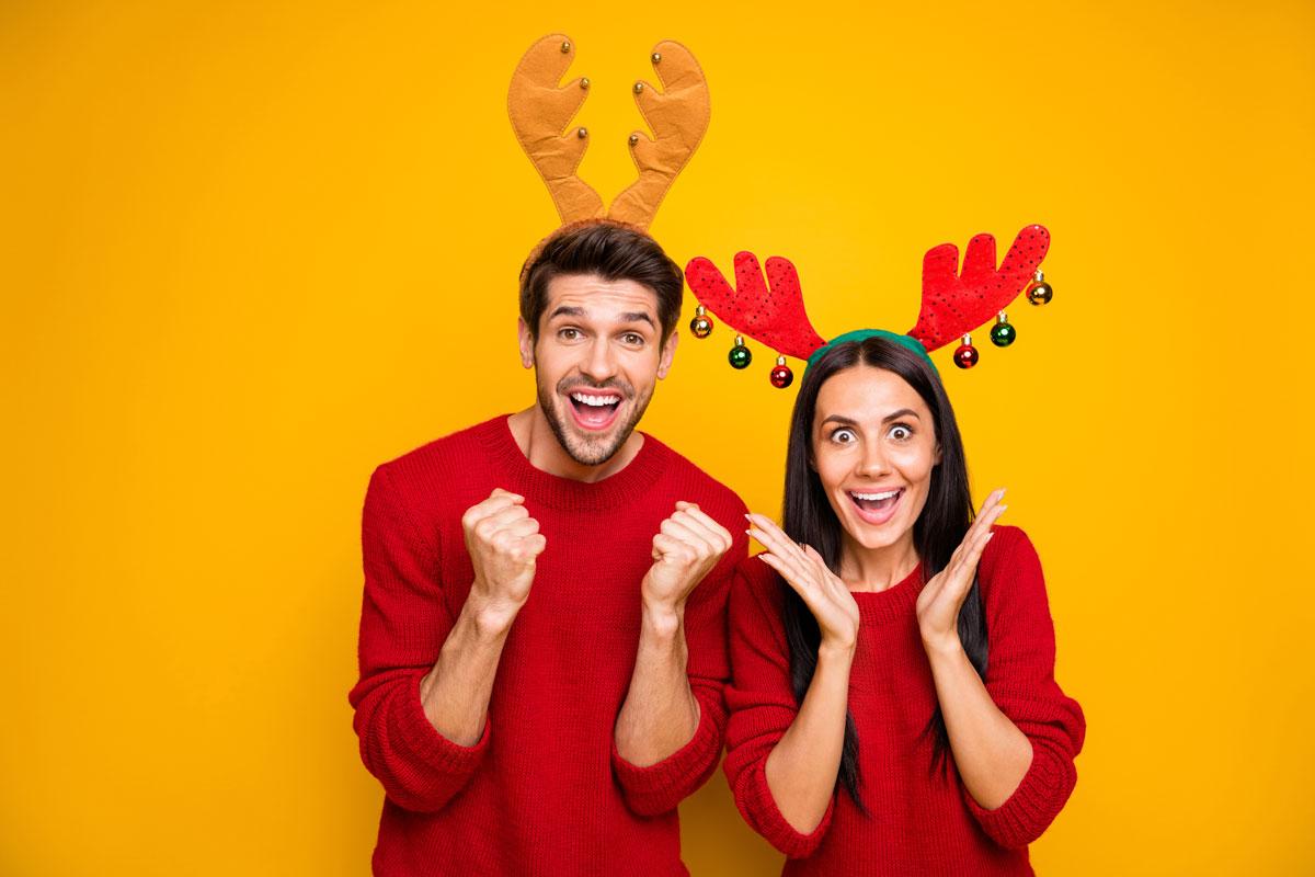 Paar Hirschgeweihe - Adventskalender für Paare