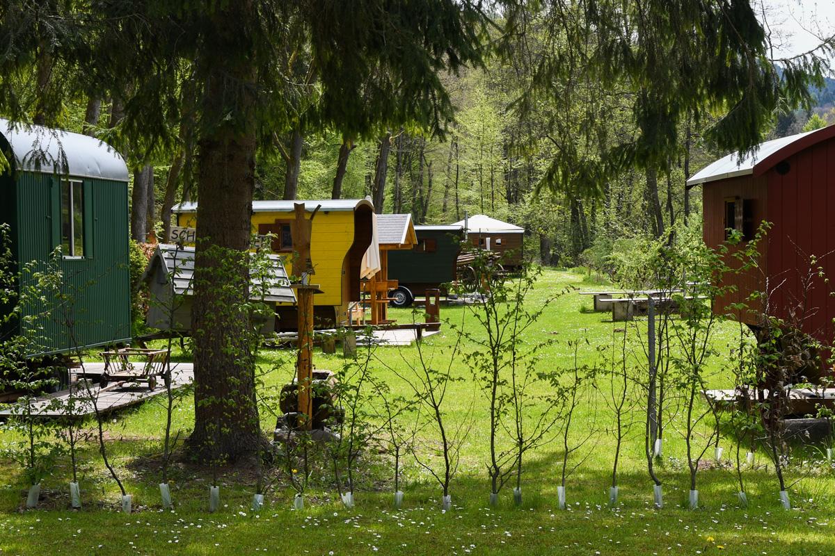 Schäferwagen in der Natur, Schäferwagenhotel