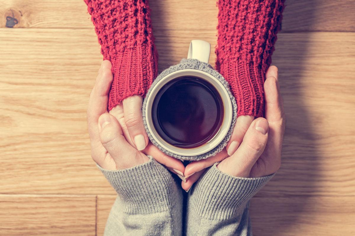 Tee trinken Paar