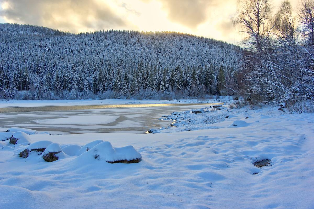 Schluchsee im Winter - Winterwanderwege im Schwarzwald