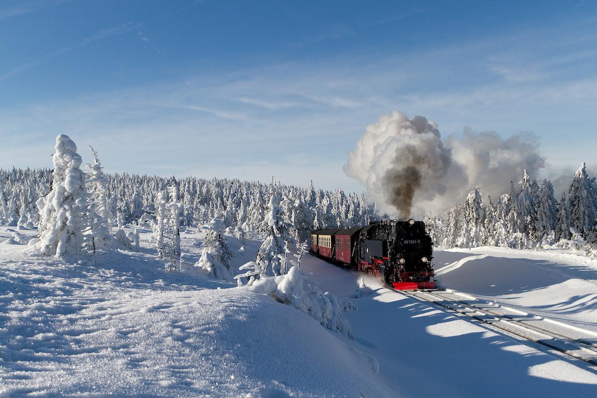 Harzer Schmalspurbahn im Winter - Winterwanderwege im Harz